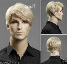 Men's short blonde hair wig wig male European and American popular cc28