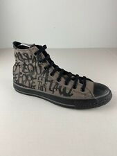 Converse All Star Mens Shoes 10.5 Gray Black Chuck Taylor Hi All Shall Be Equal