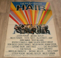 A1-Filmplakat  HAIR ,TREAT WILLIAMS,JOHN,SAVAGE,,ANNIE GOLDEN