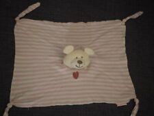 Schmusetuch Bär babydream Rossmann rosa gestreift mit Herz guter Zustand