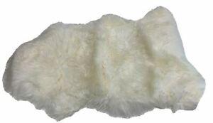 Pottery Barn 2'x3' Ivory Sheepskin Rug New Zealand Sheep Fur NEW