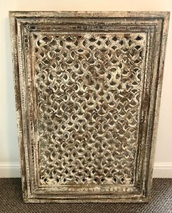 Antique Solid Mango Wood Indian Wall Panel, Wall Decor, Home Decor