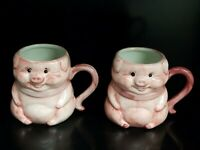 Lot Of 2 Rich's-Macy's Pink Pig Priscilla 50th Anniversary Coffee Mug 1953-2003