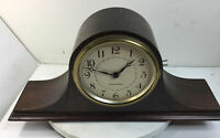 Antique Seth Thomas Humpback Wood Mantle Clock Missing Glass NOT WORKING