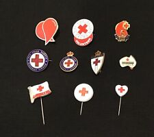 Variety Of 10  Badges /Pins - Red Cross / Blood Donor - Badges - Collectable