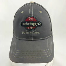 Tractor Supply Co For Life Out Here Gray Adjustable Baseball Cap Hat TSC