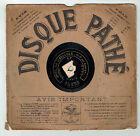 78T 21 cm SAPHIR VAGUET Disque Phonographe LA LIBELLULE Chanté PATHE 3683 RARE