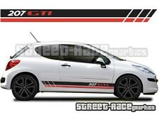 Peugeot 207 016 side racing stripes graphics stickers decals vinyl GTI