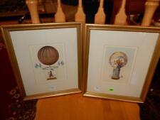2 piece framed hot air balloon litho's Lot 264