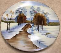 "Large Norcrest Hand Painted 11"" Plate Platter Vintage Fine China P-722"