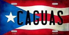 CAGUAS Puerto Rico State Flag Background Novelty Metal License Plate