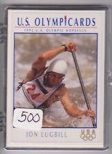 (500) 1992 US OLYMPIC HOPEFULS JON LUGBILL CARDS #30 ~ GIANT LOT ~ CANOE / KAYAK