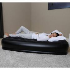 Bestway Raised Single Air Bed Inflatable Camping Airbed with Electric Pump & Bag