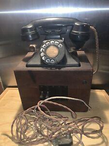 Vintage ATM Telephone Bakelite -wood. Wall Mounted