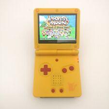 Pikachu w/Red Button 5 Segment Backlight iPS LCD Screen Game Boy Advance GBA SP