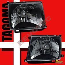 Black Headlights Lamps 1 Pair For 97-00 Toyota Tacoma 2wd 98-00 4wd