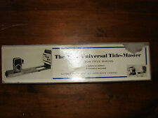 Vintage Universal Title-Master for Film Title Making with Home Movie Cameras