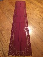 Heritage Lace Polyester Rectangular Marron Battenburg Design Runner 14x70 (258)