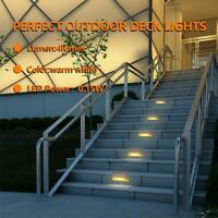12Pack  LED Solar Powered Step Stair Light Outdoor Ground Path Garden Fence Lamp