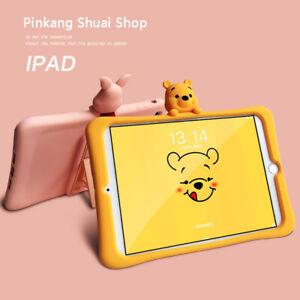 Winnie The Pooh Piglet Tigger Silica Gel Bracket TabletCase For Apple iPad mini5
