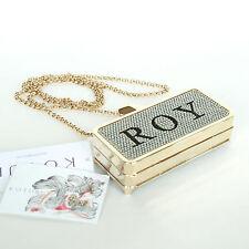 KOTUR $795 gold Swarovski crystal Get Smart iPhone 5 5s holder clutch purse NEW
