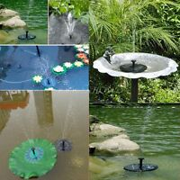 Floating Solar Powered Fountain Water Pump Pond Garden Fish Tank Yard Bird Bath