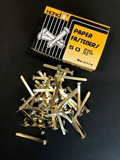 50 Quality Brass Plated Paper Fasteners Split Pins Butterfly Clip 51mm/2""