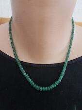 Edelsteinkette Steinkette Smaragdkette Kette Smaragd Rondelle 42.5 cm 10 g
