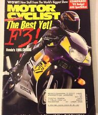 Motor Cyclist Magazine Honda F3 CBR600 January 1995 073017nonrh