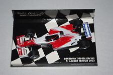 Minichamps F1 1/43 Panasonic Toyota lanzamiento presentación coche 2003 sin controlador