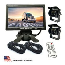 "4CH Car Rear View Reverse Back up Camera with 7"" TFT LCD  Quad Split  for Truck"