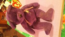 1997 ty beanie baby princess diana purple bear w/rose