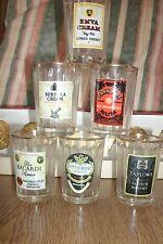 Vintage Branded Shot Glasses - Set of 6 . FREE UK P+P ..........................