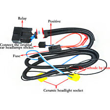 H4 Headlight Relay Wiring Harness 2 Headlamp Light Bulb Socket Plug Xenon Lights