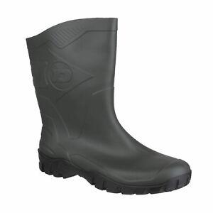 Dunlop Dee Non-Safety Calf Length Wellington Boots Dark Green Size 40eu 6.5 UK