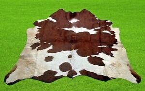 "New Cowhide Rugs Area Cow Skin Leather 15.67 sq.feet (47""x48"") Cow hide U-1719"