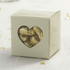 Clear Heart Favour Boxes Ivory