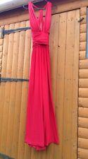 Forever Unique Ashley Deep Plunge Red Twist Strap Backless Dress 8 10 12