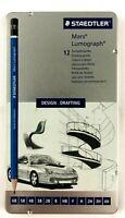 Staedtler Mars Lumograph Drawing Design Drafting Pencils 12 Count Used