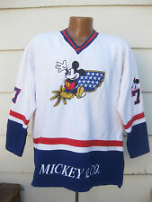 Vtg Mickey Mouse Mickey & Co Hockey Jersey Sweatshirt Disney L