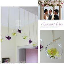 Romantic Hydroponics Hanging Glass Vase Hook Candle Holder Terrarium Wedding