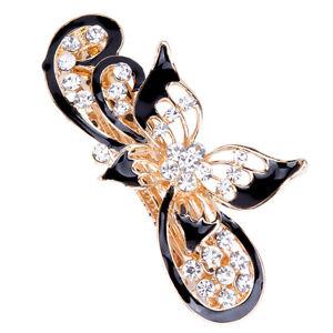 Women's Flower Hair Pin Slide Barrette Hairpin Crystal Hair Clips Accessories