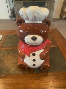Vintage teddy bear cookie jar