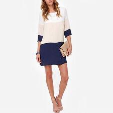 Markenlose 3/4 Arm Damenkleider aus Baumwollmischung für Clubwear-Anlässe