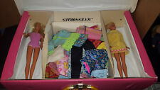 Vintage Barbie Lot of 2 dolls , case and lots of clothes