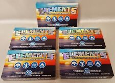 5 Packs 1 1/4 Elements Ultra Thin Rice Rolling Papers 300 Leaves Per Pack