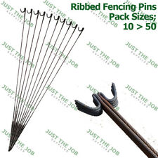 Ribbed Steel Metal Barrier Fencing Stakes 9mm x 1350mm Fence Pins ~ STRONG 10,20