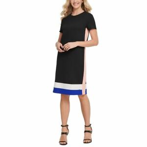 DKNY NEW Women's Colorblock Ponte T-shirt Shift Dress TEDO