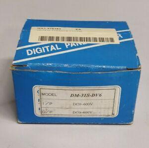 Digital Panel Meter (DM-31S-DV6) DC0-600V Display - Brand New
