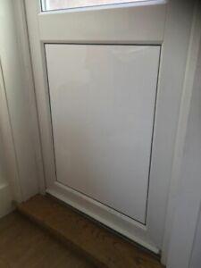 GLOSS WHITE BACK DOOR BLANKING PANEL BACK DOOR CAT FLAP BLANK PANEL